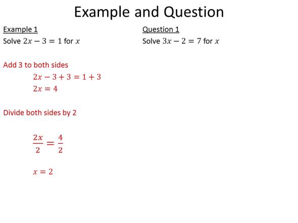 Example-problem pairs I