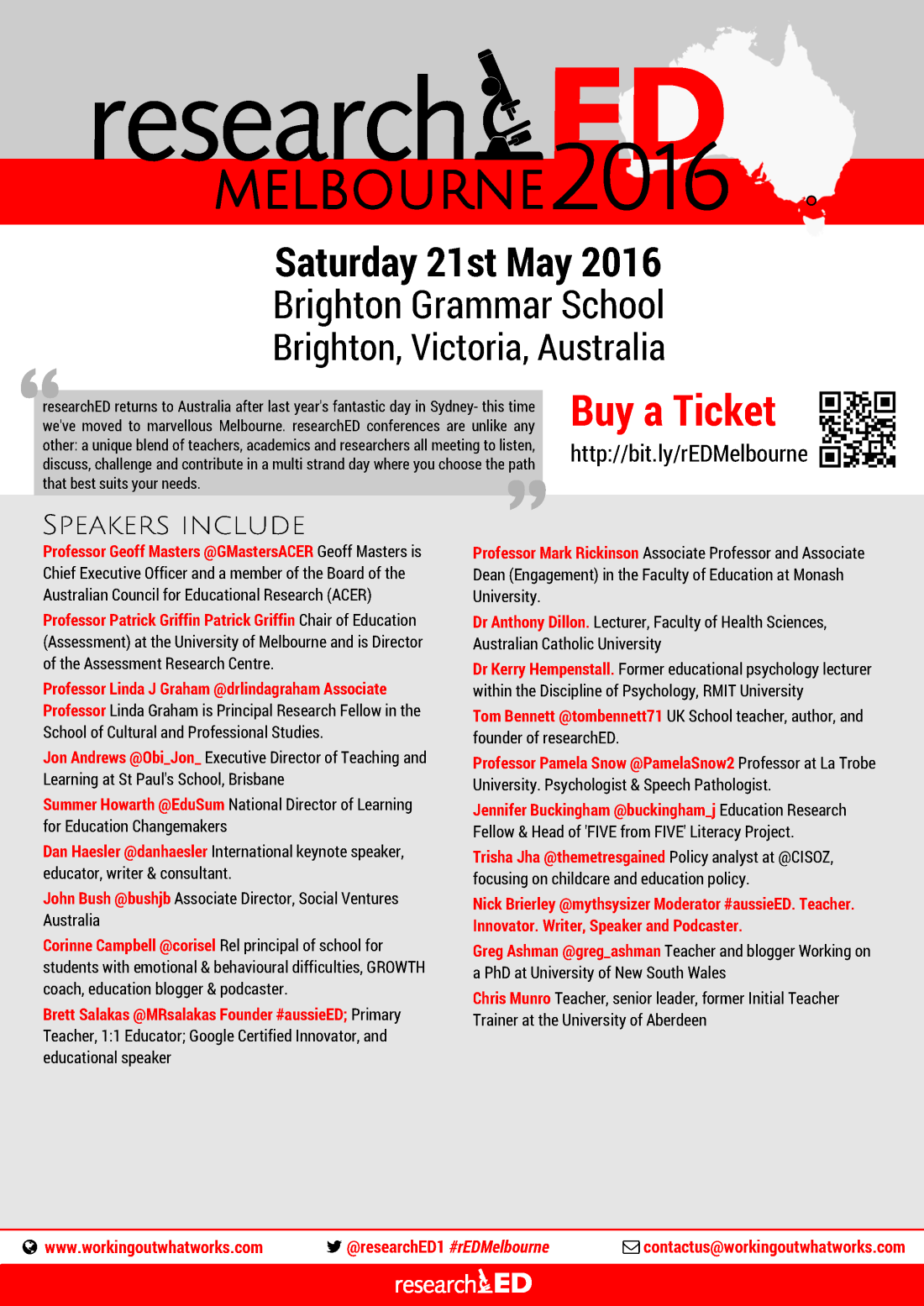 ResearchED 2016 Melbourne.poster