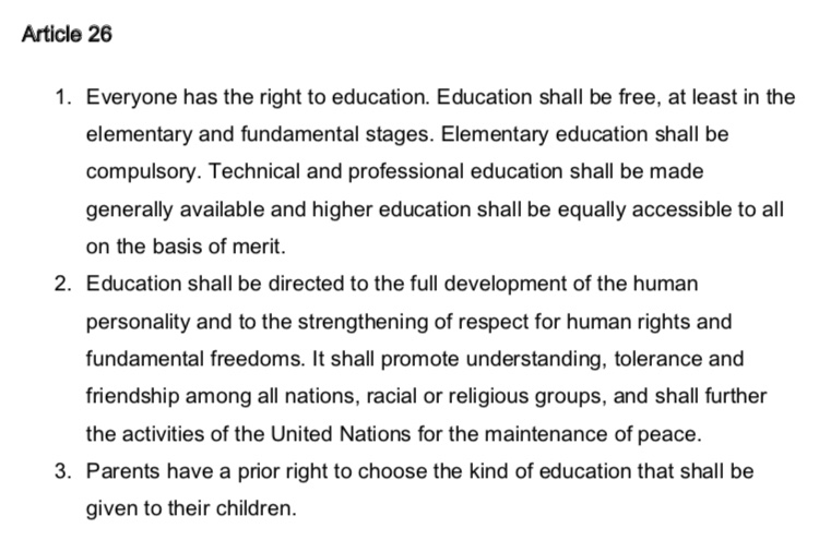 The right to choose your child's education – Filling the pail